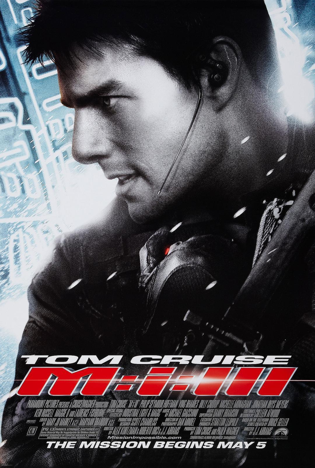 碟中谍3 4K蓝光原盘下载+高清MKV版 / M: I 3 / 不可能的任务3(台) / 职业特工队3(港) 2006 Mission: Impossible III 60.1G