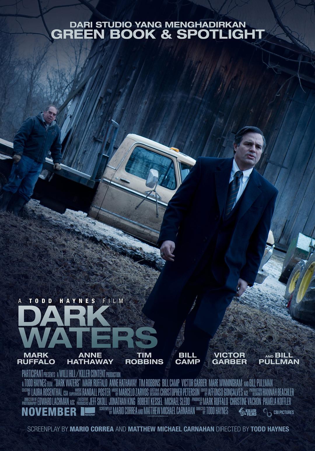 黑水 蓝光原盘下载+高清MKV版/黑水风暴(台) / 黑暗水域 / 空转 / 演习 / Dry Run / The Lawyer Who Became DuPont's Worst Nightmare 2019 Dark Waters 42.2G